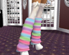 pastel stripe puf socks