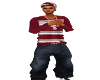 Red Stripe Baggy Jeans