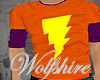 WS Orange Lightning Bolt
