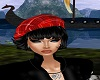 Red Scotish Beret/ Black