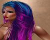 Bluepurple Punk Hair