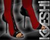 Red Lust Peep toe boot