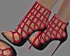 R/Black Peep Toe Booties