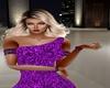 Purple Sequin Arm Chains