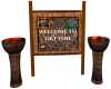 Tiki Welcome Sign 2