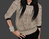 [Ly]beige black sweater