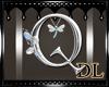 silver letter Q