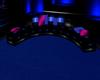 black blue/pink sofa