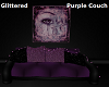 Purple Glittered Couch