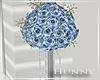 H. Blue Flower Pillar