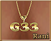 G33 Gold Custom Necklace