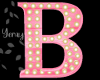Pink Wood Letter B