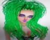 GREEN TOXIC RAVE HAIR