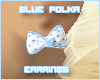 Blue Polka Earrings