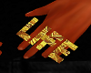 Gold Life Ring Left
