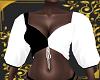 (A.F) black&white top