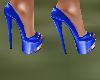 !Em BlueGold Heels