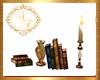 Books,Vase & Candle