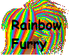 Rainbow Furry Hair