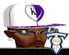 Wht/Pur KD Fitted Hat