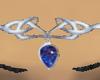 Royal blue headdress