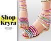 #K. Stripe Sandals