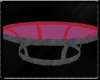 Iron Red Glass table