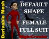 Female Skin T Body Suit