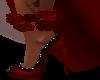 Red Roses Anklet Left