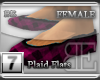 [BE] Pink Plaid Flats F