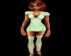 Green/Dots Dress