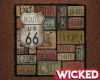 Route 66 Wall Sign