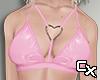 Latex Heart Bra | Pink