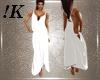 !K! White Drape Gown