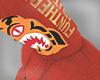 O|Bape Tiger Hoodie red