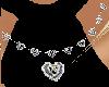 platinum heart necklace