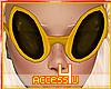 ! Orange Alien Glasses