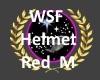 wsf Red Helmet M