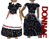 Lucille Black Polka Dots