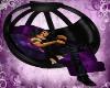 Blk Purple Kissing Chair