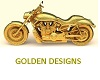 Pure Gold Harley Badge