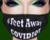 6 FeetAway Covidiot BlkF