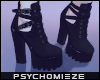 ~PM~ Strap Heel Boots