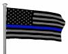 Thin Blue Line Flag/Pole