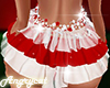 Layer Skirt Xmas Red