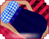 *D* Plaid & Denim Dress