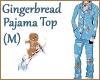 Gingerbread Pajama Top M