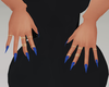 Matte Glitter Blue Nails
