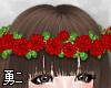 Y' Red Flower Crown