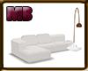 [0V1] White sofa 1